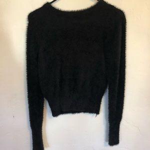 Zara - black fuzzy soft sweater